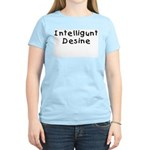 Intelligunt Desine Women's Pink T-Shirt