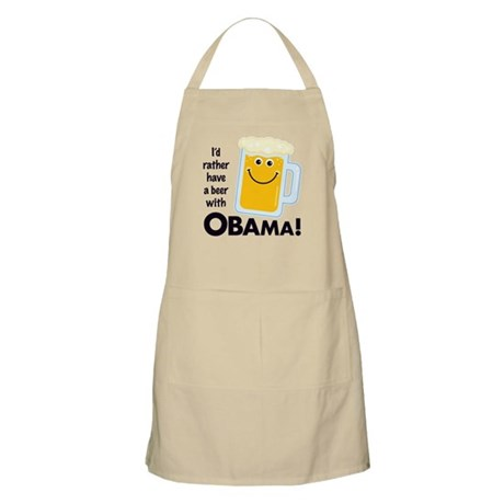 Beer with Obama BBQ Apron
