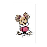 Christmas Yorkie Rectangle Sticker 50 pk)