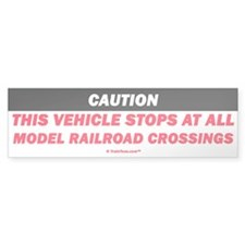 Model Railroad Crossings Bumper Bumper Sticker
