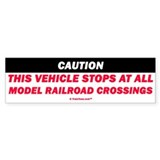 Model Railroad Crossings Bumper Sticker (10 pk)
