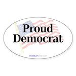 """Proud Democrat"" Oval Sticker (50)"