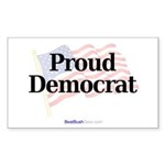 """Proud Democrat"" Rect Sticker (10)"