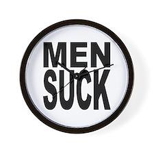 Men Suck Wall Clock