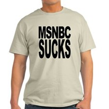 MSNBC Sucks Light T-Shirt