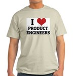 I Love Product Engineers Ash Grey T-Shirt