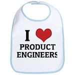 I Love Product Engineers Bib