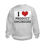 I Love Product Engineers Kids Sweatshirt