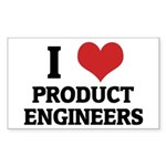I Love Product Engineers Rectangle Sticker