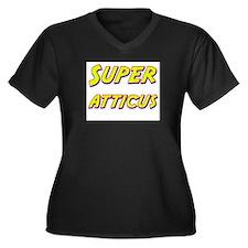 Super atticus Women's Plus Size V-Neck Dark T-Shir
