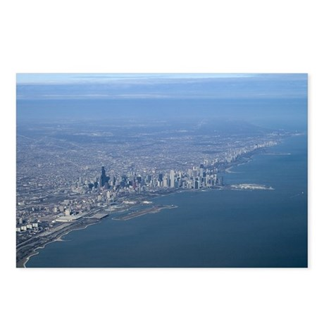 Aerial City Postcards (Package of 8)