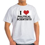 I Love Political Scientists Ash Grey T-Shirt