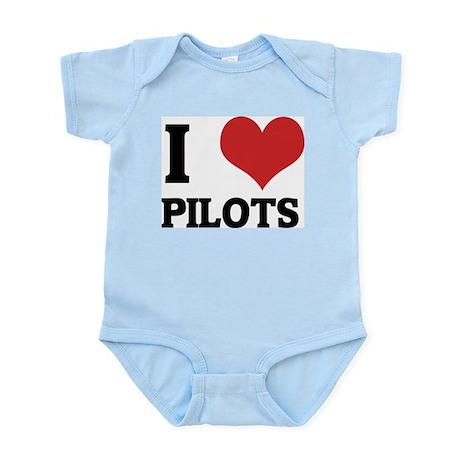 I Love Pilots Infant Creeper