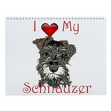 Miniature Schnauzer Puppy Wall Calendar