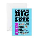 Dream Big Birthday Card Swim (F) #1420