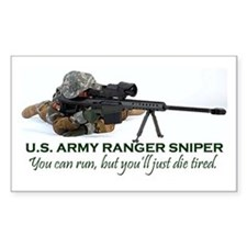 ARMY RANGER SNIPER Rectangle Decal