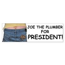 Joe the Plumber for President Bumper Bumper Sticker