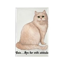 Cat Attitude Rectangle Magnet