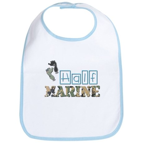 Daddy's Little Marine Bib