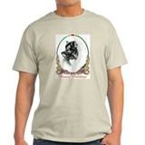 Keeshond Happy Holidays T-Shirt