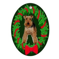 Welsh Terrier Christmas Keepsake (Oval)