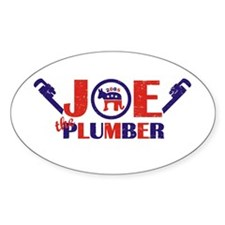 Joe the Plumber Oval Decal