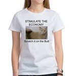 Scratch the economy on the bu Women's T-Shirt