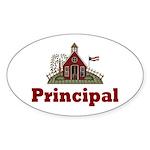 School Principal Oval Sticker
