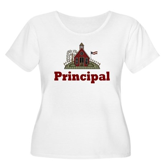 School Principal Women's Plus Size Scoop Neck T-Sh