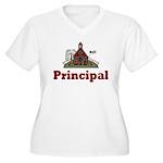 School Principal Women's Plus Size V-Neck T-Shirt