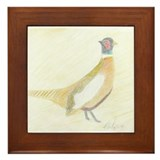 Pheasant Framed Tile