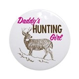Daddy's Hunting Girl Ornament (Round)