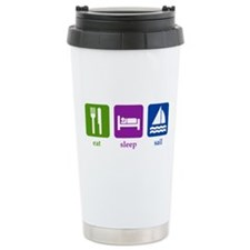 Sailing Ceramic Travel Mug