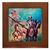 Funny Windmills Framed Tile