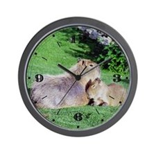 Capybara Snooze Wall Clock