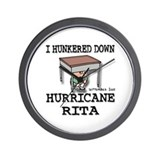 Rita Hunkered Down Wall Clock