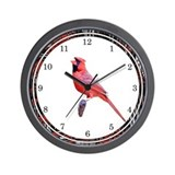 Majestic Cardinal Wall Clock