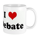 I Love Debate Small Mug