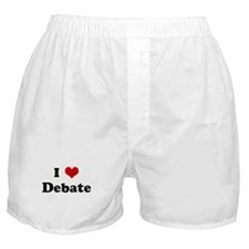 I Love Debate Boxer Shorts