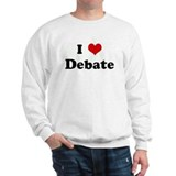 I Love Debate Sweatshirt
