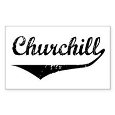 Churchill Rectangle Decal