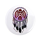"Native American Dreamcatcher 3.5"" Button"