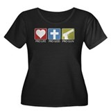 Pro Life Pro God Pro Gun Women's Plus Size Scoop N