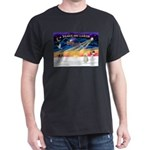 XmasStar/Sib Husky Dark T-Shirt