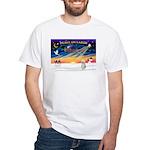 XmasStar/Sib Husky White T-Shirt