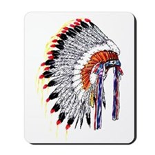 Indian Chief Headdress Mousepad