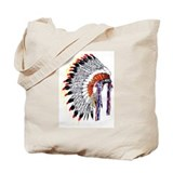 Indian Chief Headdress Tote Bag