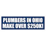 $250K for Ohio Plumbers! Bumper Sticker