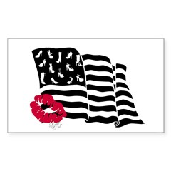 Shoes and Stripes Flag Rectangle Sticker