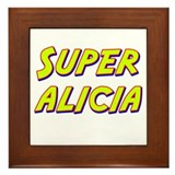 Super alicia Framed Tile